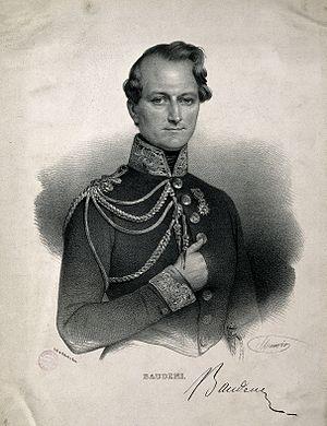 Lucien Baudens - Lucien Baudens; lithograph by N. E. Maurin