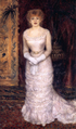 Renoir's portrait of Jeanne Samary in an evening gown, 1878