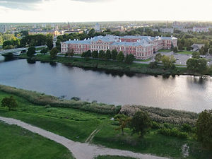 Jelgava Palace - The Palace in the evening
