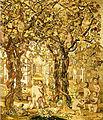 Jeux d'enfants faisant les vendanges dans une treille Giovanni da Udine pour Léon X 1530.jpg