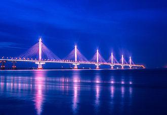Jiaxing-Shaoxing Sea Bridge - The Jiashao Bridge under construction.