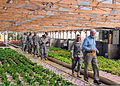 Jim Moseley, foreground, a farmer and former U.S. deputy secretary of agriculture, gives a tour of his hydroponics farm to U.S. Soldiers and Airmen, with the 3-19th Agribusiness Development Team, Indiana 100903-A-AO424-013.jpg