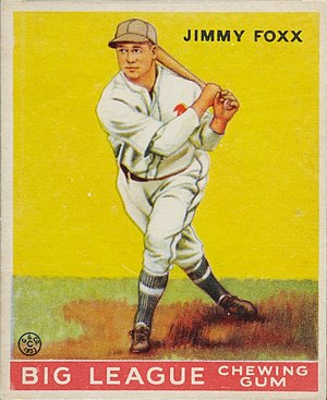 Jimmie Foxx - 1933 Goudey baseball card