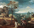 Joachim Patinir, St Christopher Bearing the Christ Child, Rockox House, Antwerp.jpg