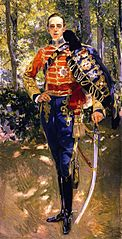 Portrait of King Alfonso XIII in a Hussar's Uniform