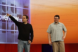 Jeff Atwood - Joel Spolsky and Jeff Atwood at MIX 2009