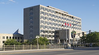 John G. Diefenbaker Building - The International Style 1958 portion of the Old City Hall on Sussex Drive
