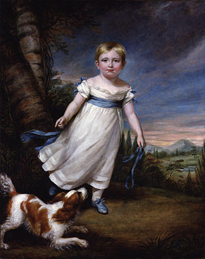 John Ruskin - Ruskin as a young child, painted by James Northcote.