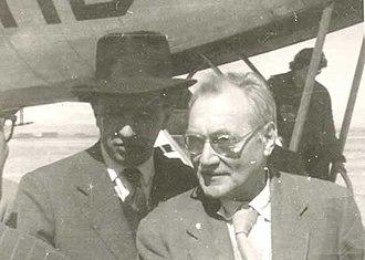 John Grierson - John Grierson (right) with Bolivian filmmaker Jorge Ruiz in 1955