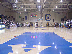 Janesville, Wisconsin - A basketball game between cross-town rivals, Joseph A. Craig High School and George S. Parker High School
