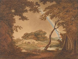 Landscape with Rainbow, View near Chesterfield