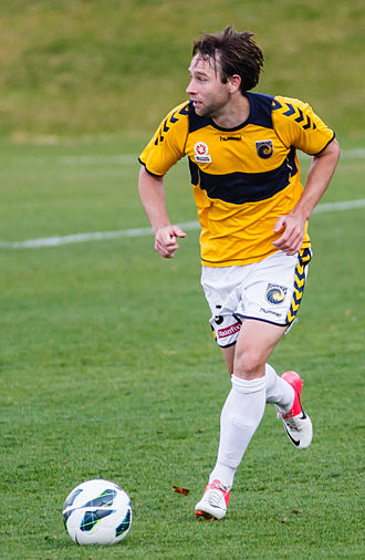 Josh Rose - Rose playing for Central Coast Mariners in 2012