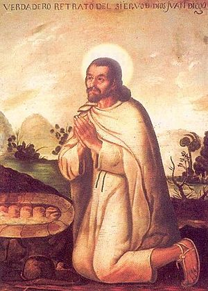 Juan Diego. 18th century painting by Miguel Ca...