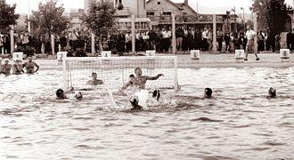 Yugoslavia men's national water polo team - Yugoslavia men's national water polo team in 1962 vs. Soviet Union in Celje