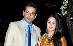 Juhi Babbar and Anup Soni in Jan 2013
