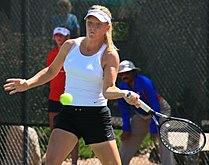 Julie Ditty hitting ball Albuquerque 2008.jpg