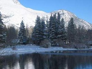 June Lake, California - Silver Lake in the Winter