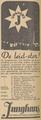 Junghans 1938 Dutch advertisment De leid-ster (Junghans The lodestar).png