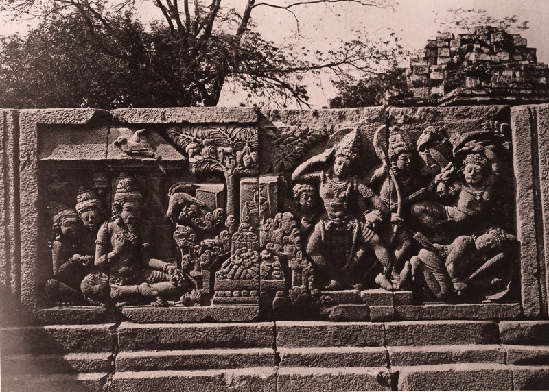 File kitlv 155164 kassian c phas reliefs on the for Terrace yogyakarta