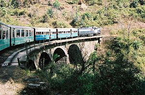 Shimla - Passenger train on the Kalka-Shimla Railway route