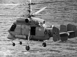 Kamov Ka-25 - A Soviet Ka-25 anti-submarine helicopter