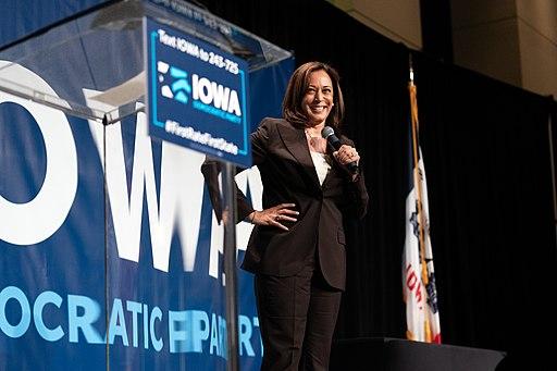 Kamala Harris at the 2019 Iowa Democrats Hall of Fame Celebration in Cedar Rapids, Iowa [photo by Lorie Shaull -- Creative Commons Attribution-Share Alike 2.0 Generic license]