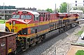 Kansas City Southern Railway - 4853 and 4816 diesel locomotives (Marion, Ohio, USA) 2 (42318750465).jpg
