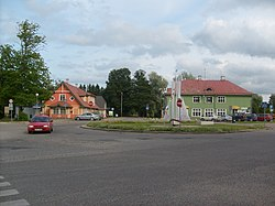 The town square of Kärdla.
