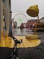 Karlsruhe 2019 Marktplatz im Regen, Januar.jpg