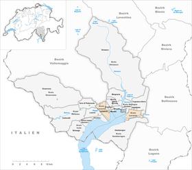 Map of Locarno