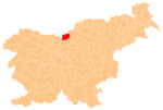 The location of the Municipality of Solcava
