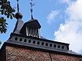 Kasteel Helmond, poorttoren 1, de westelijke, dak met duiventilgaten.JPG