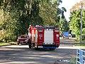 Kavaleŭskaj lane (Minsk, Belarus), fire engine.jpg
