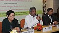 Kavuru Sambasiva Rao addressing at the distribution of improved tool kits of art metalware, woodware to handicrafts artisanscraft persons, at a function, in New Delhi. The Secretary, Ministry of Textile.jpg