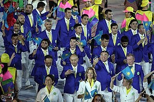 Kazakhstan at the 2016 Summer Olympics - Kazakhstan at the 2016 Summer Olympics opening ceremony.