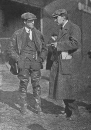 Charles K. Hamilton - Hamilton (left) with fellow aviator Hubert Latham, c. 1910.