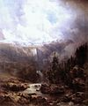 Kelety Landscape in the Tatra Mountains with Waterfall c. 1860.jpg