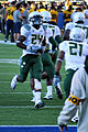 Kenjon Barner warming up vs Cal, November 2010.jpg