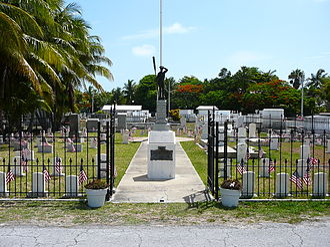 Key West Cemetery - Image: Key West Cemetery Battleship Maine