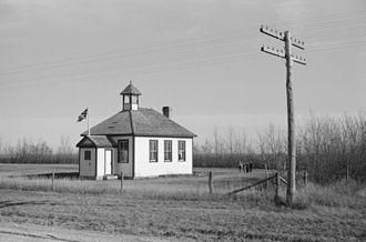 Killarney, Manitoba - Killarney schoolhouse, 1940