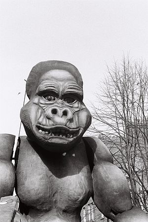 English: King Kong in Dublin. St. Patric's cel...