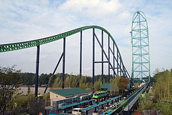 Kingda Ka, the world's tallest roller coaster at Six Flags Great Adventure in Jackson
