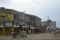 Kisangani rond-point Cathédrale et Congo Palace.jpg