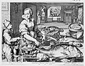 Kitchen Scene with Kitchen Maid Preparing Fish, Christ at Emmaus in the Background, from Kitchen and Market Scenes with Biblical Scenes in the Background MET MM62248.jpg