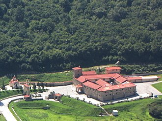 Agia Triada Monastery, Sparmos - View of the monastery