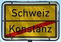 Konstanz, Schild 311 am Ortsausgang Richtung Schweiz, 1.jpeg