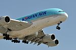 Korean Air Lines, Airbus A380-861, HL7628 - LAX (18355482265).jpg
