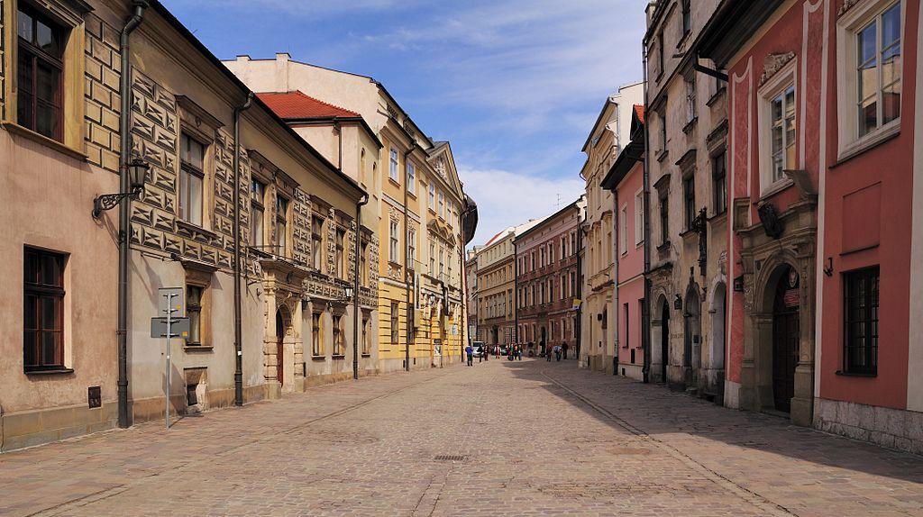 Rue Kanoniczna dans la Vieille Ville de Cracovie.