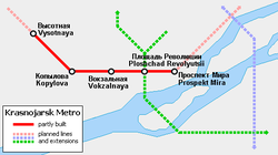 The planned metro network