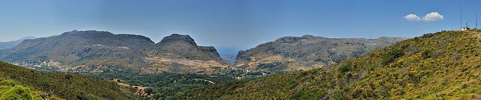 Crete: View at Libyan Sea and Kotsifou Gorge